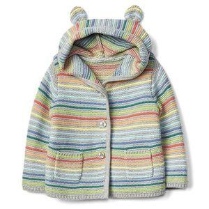 Gap Bear Garter Knit Cardigan Hoodie   6-12M